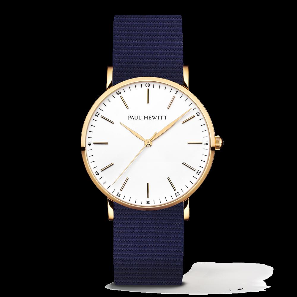Gold Line Watch, Navy Blue - Paul Hewitt