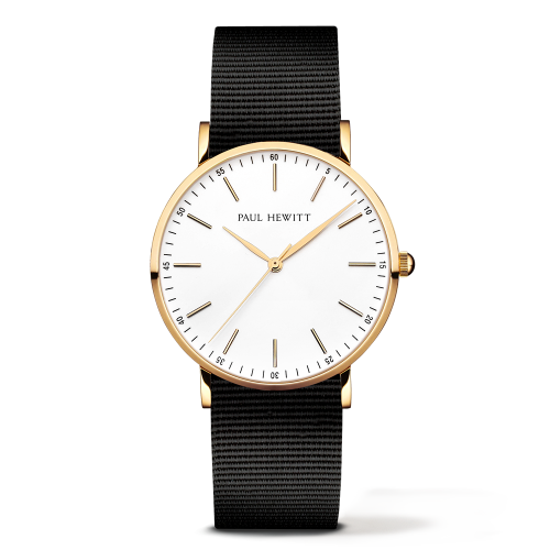 Gold Line Watch, Black