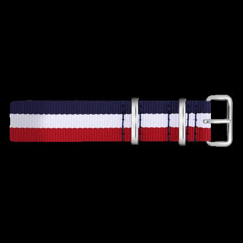Silver Line Watch, Navy/White/Red - Paul Hewitt