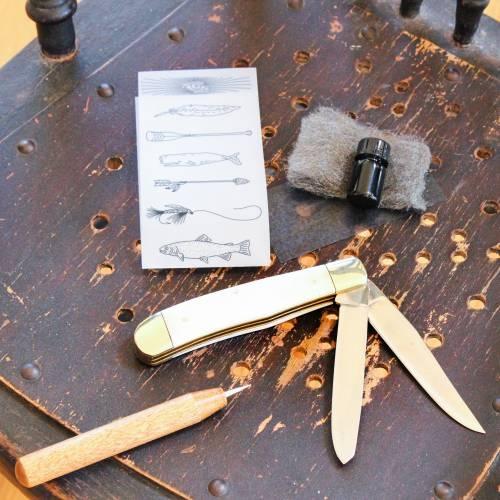 DIY Scrimshaw Kit & Trapper Knife