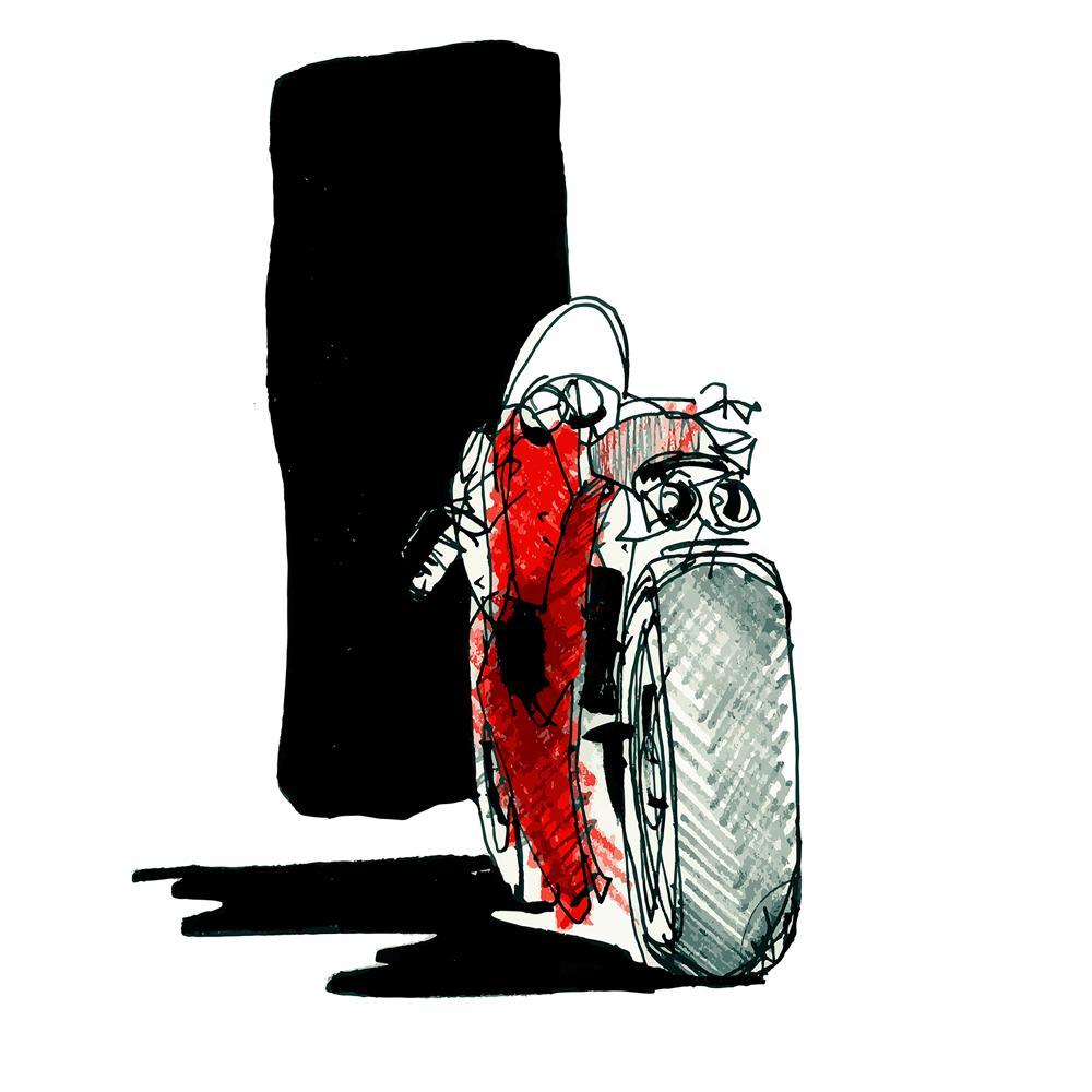 Ducati 748 Superbike Watercolor Print | By Artist Bilbeisi