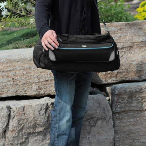 Weekender Duffle Bag with Collapsible Shelves   BLUE