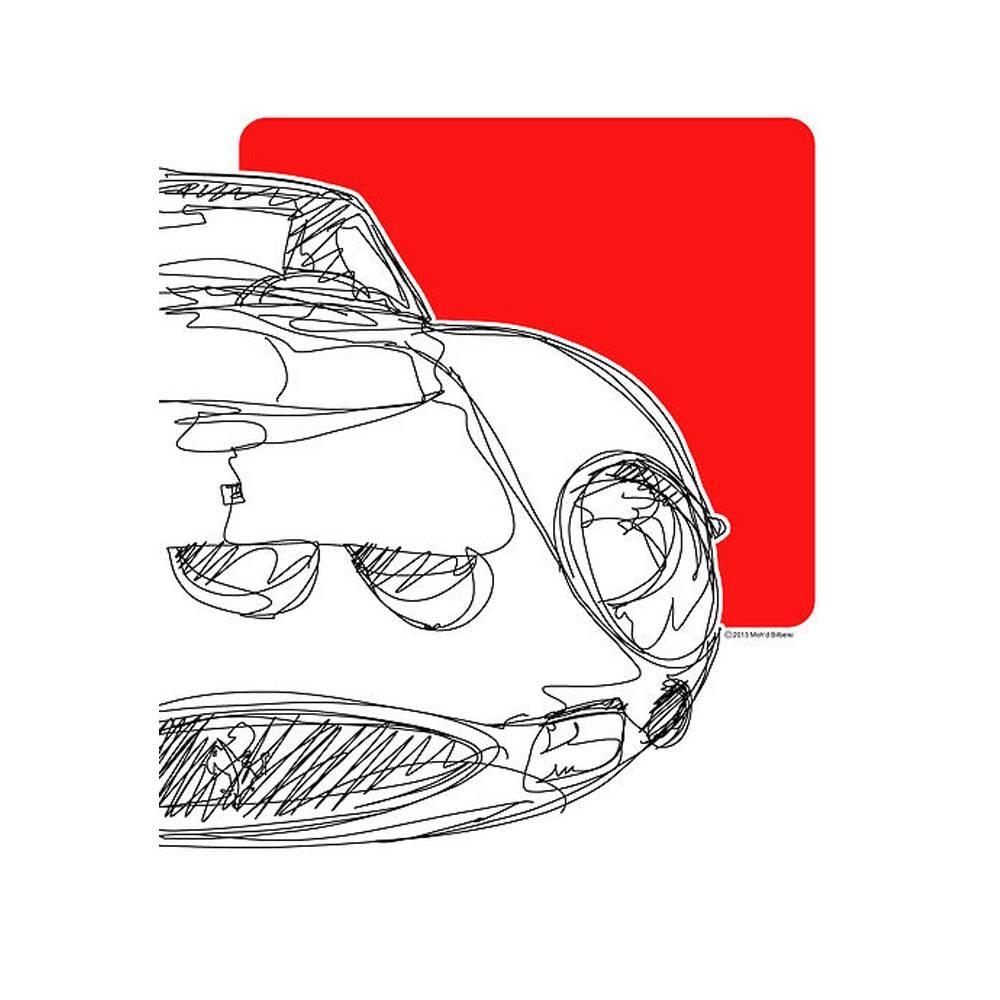 Ferrari 250 GTO Watercolor Print   By The Artist Bilbeisi