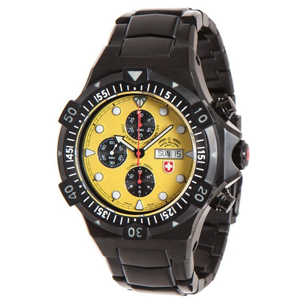 Swiss Military Watches - CONGER NERO AUTO, Yellow