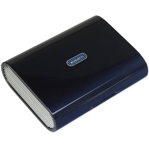 Bugatti Travel Humidor, Blue Lacquer