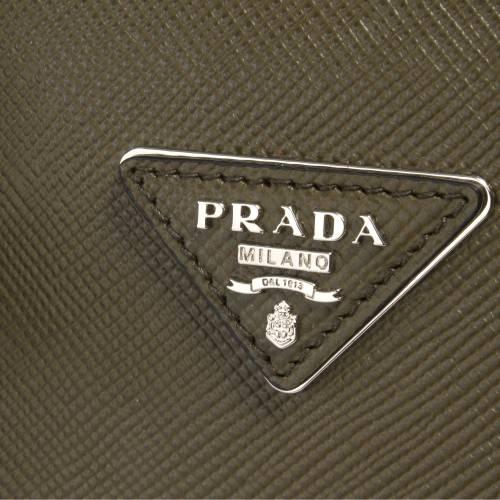 Prada Saffiano Militaire Cuir Bag