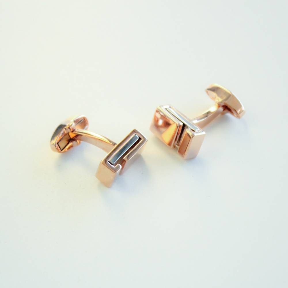FlipMyTie Gold with Lines Cufflink