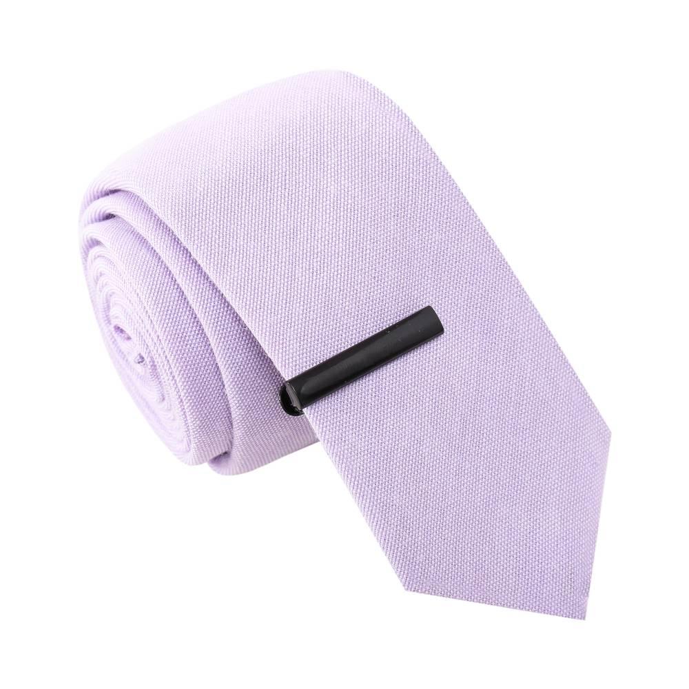 Banjo Scandal Purple Tie with Tie Clip