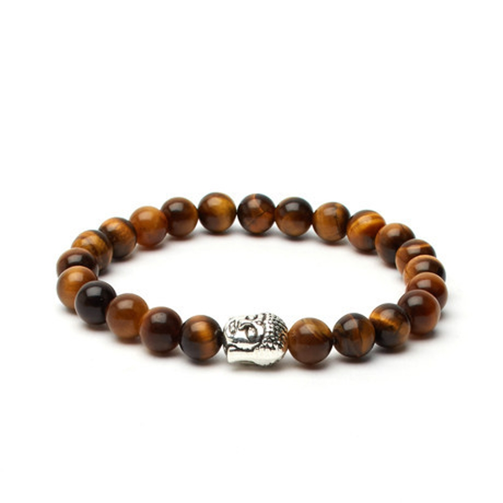 Brown Tiger's Eye Buddha Bracelet - Buttigo