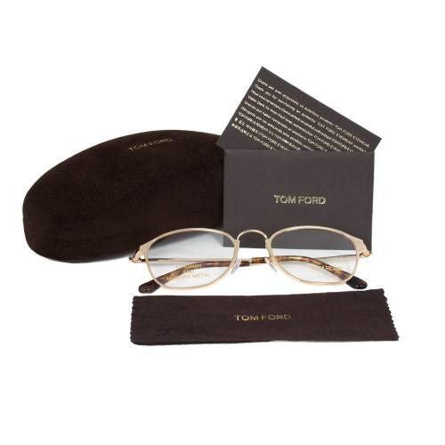Rose Gold Round Eyeglasses Frame   Size 51