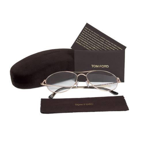 Rose Gold Aviator Eyeglasses Frame | Size 56