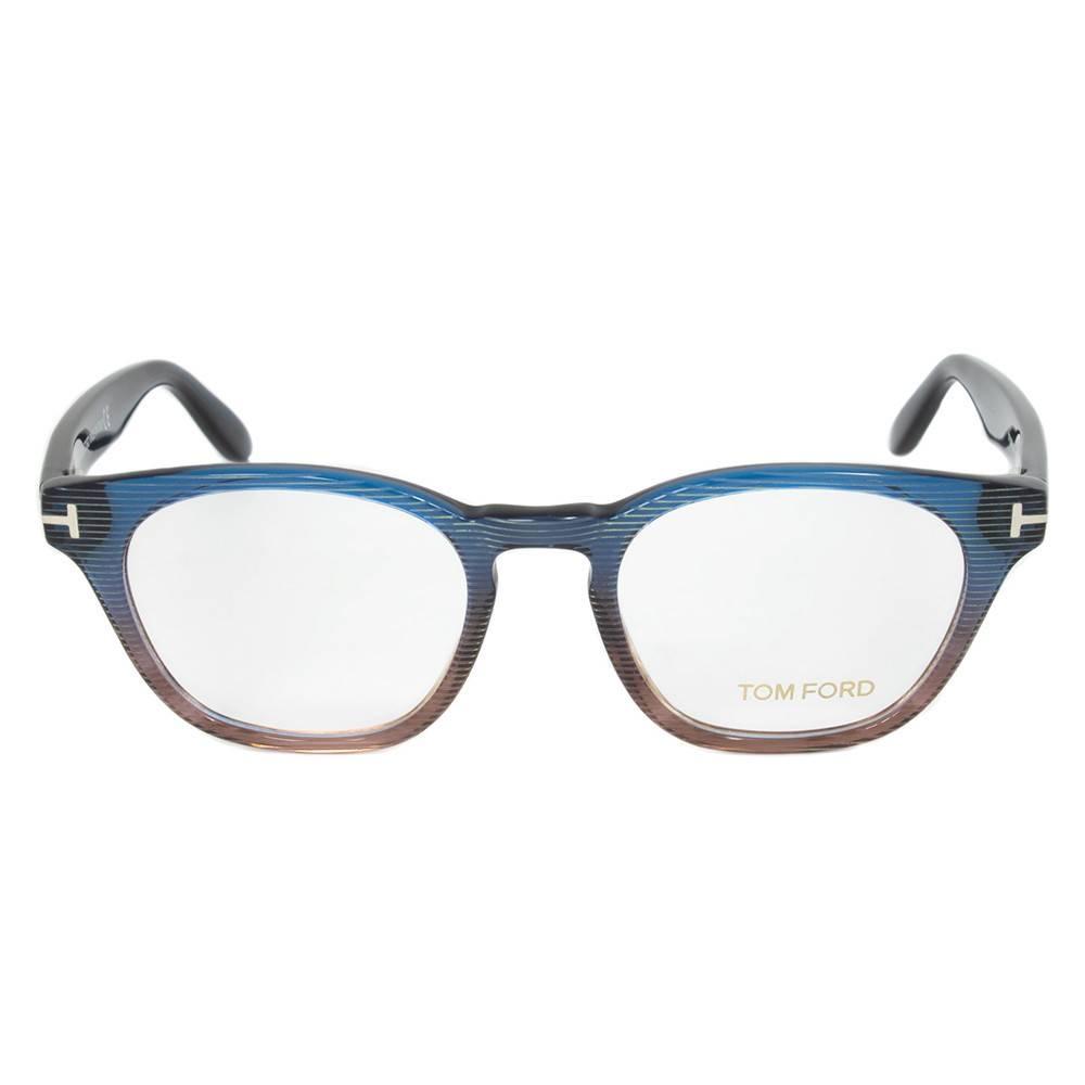 Turquoise/Brown Wayfarer Eyeglasses Frame | Size 49