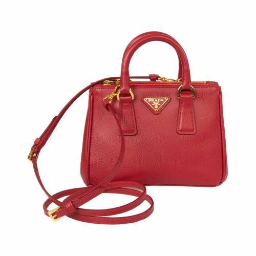 Mini Red Saffiano Leather Tote