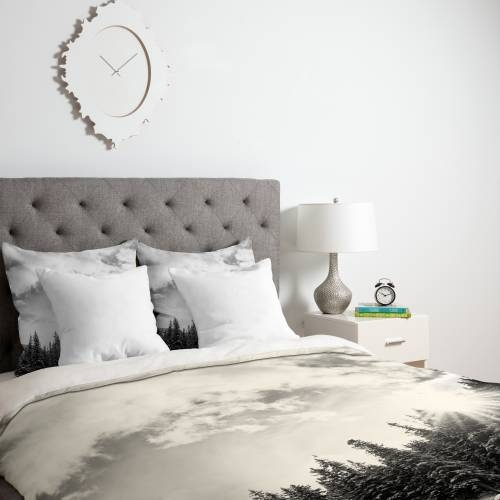 Bird Wanna Whistle White Mountain Duvet | Deny Designs