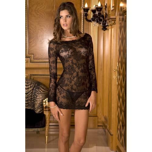 René Rofé | 2-Piece Long Sleeve Chemise Dress Set