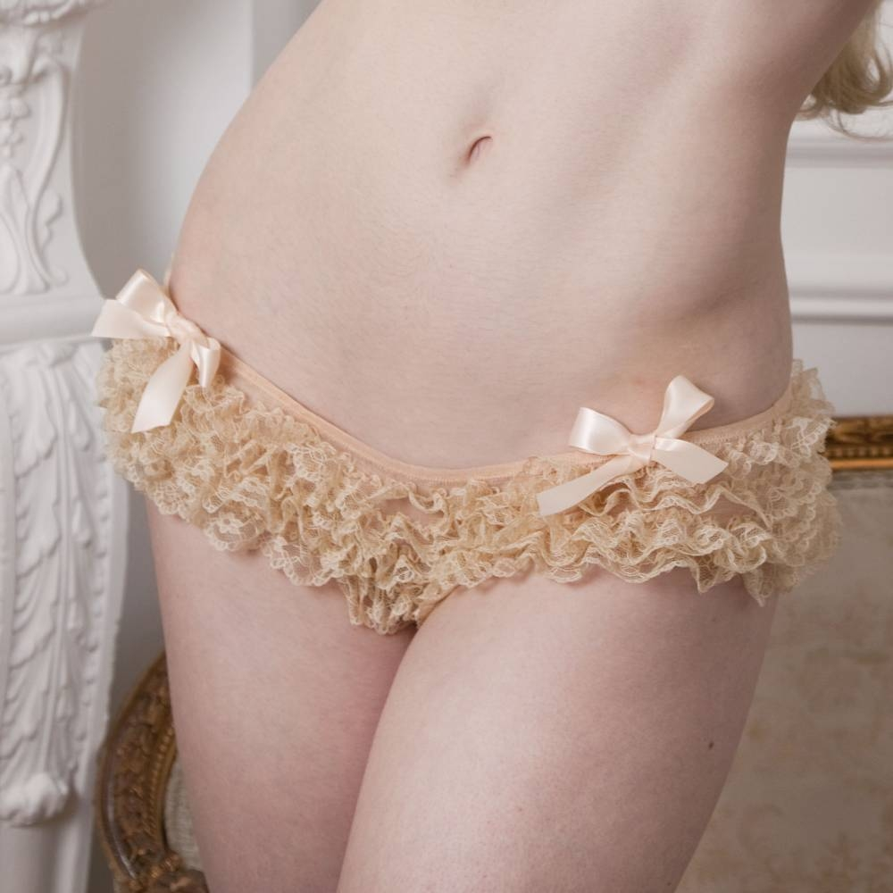 Playful Promises | Vintage Cream Frilly Brief