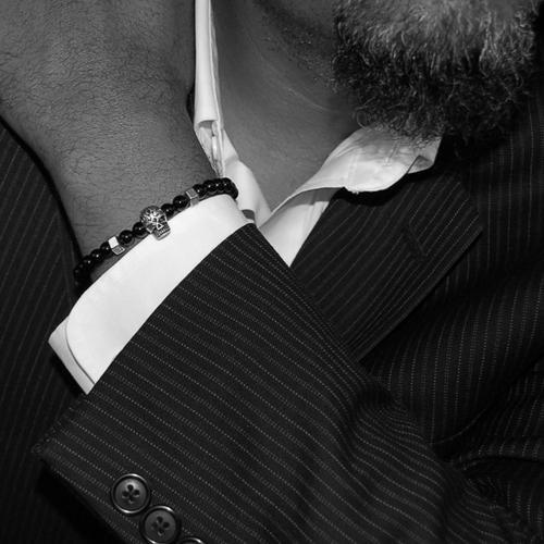 Silver Skull Bracelet | Who's Lookin' Design