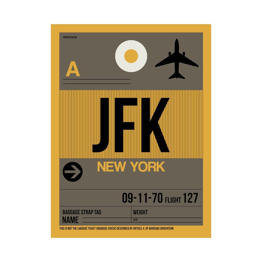 NaxArt | JFK New York Poster