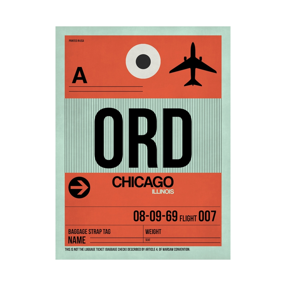 NaxArt | ORD Chicago Poster