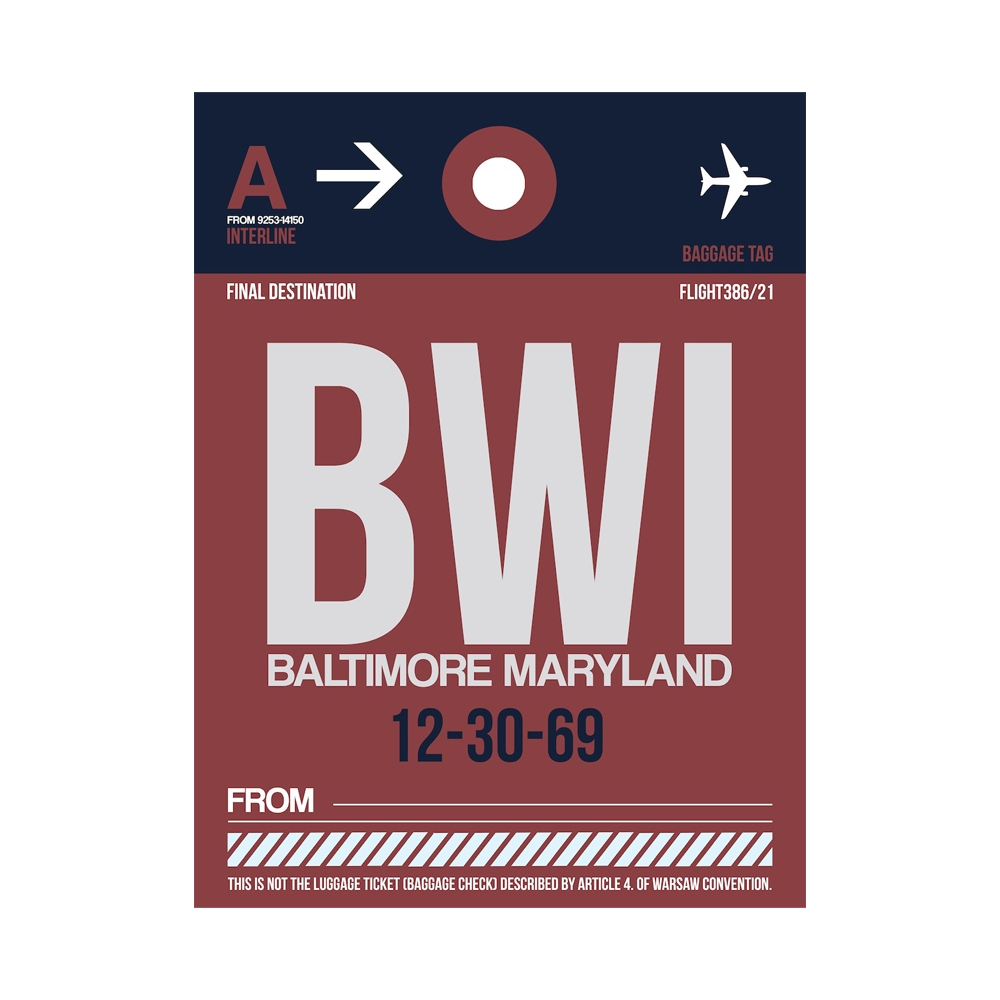 NaxArt | BWI Baltimore Poster