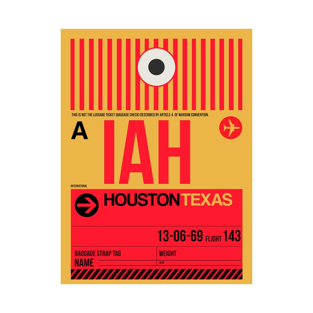 NaxArt | IAH Houston Poster