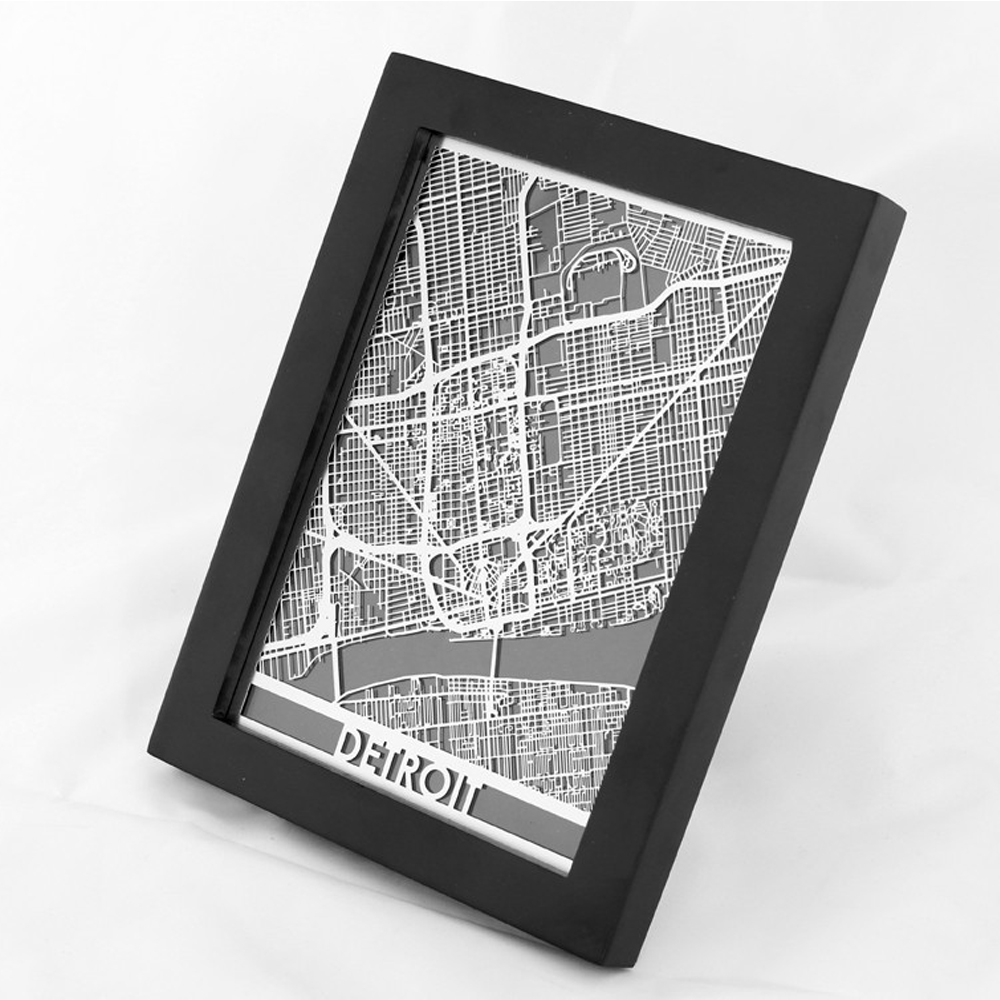 Detroit | Cut Maps