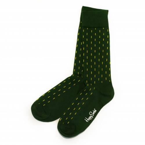 Socks | Green & Yellow Stripes & Argyle Print | Happy Socks