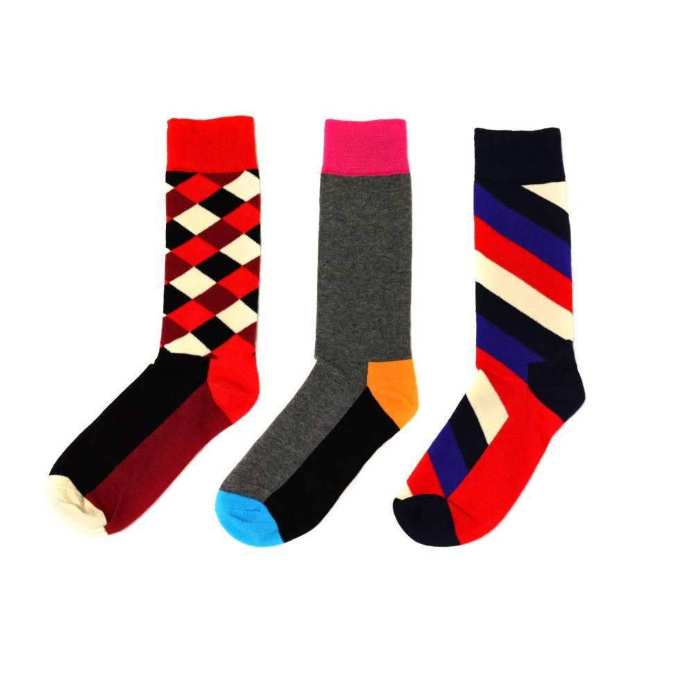 Socks | Checkerd, Stripes and Color Block | Happy Socks