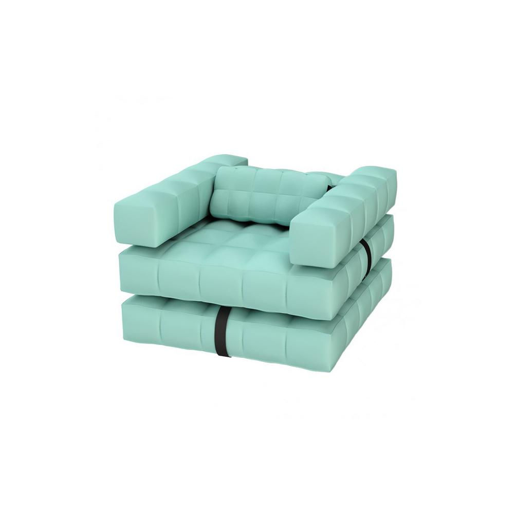 Armchair / Sun Lounger Set | Aquamarine Green | Pigro Felice