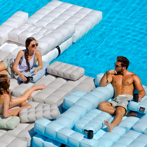 Sofa / Double Lounger Set | Sand | Pigro Felice