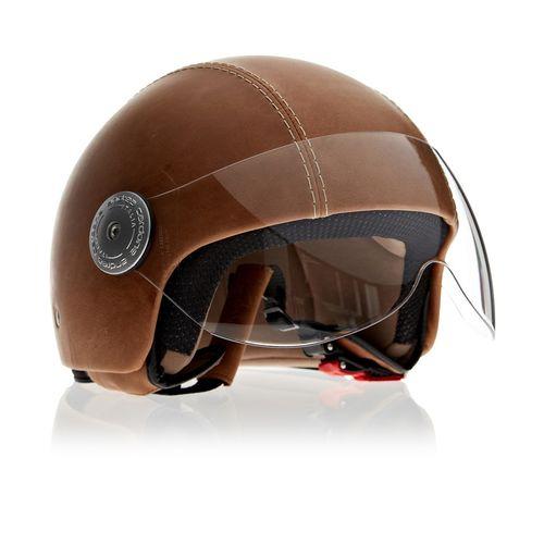 Leather Helmet   Vintage Havana