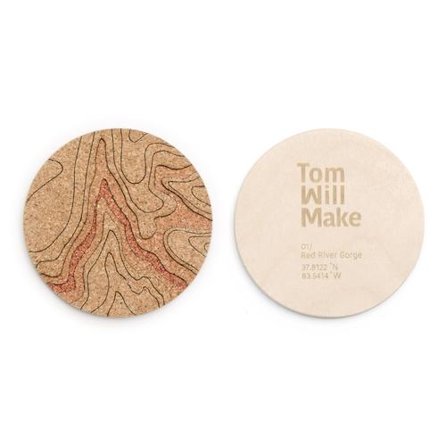 Topo Coasters | Set of 4 | Red River Gorge