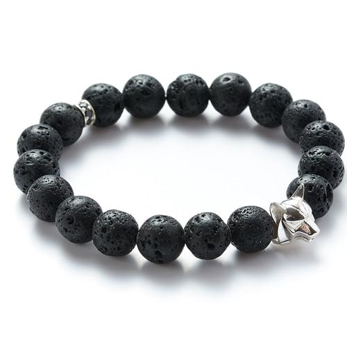 Lava | Silver Wolf Bracelet