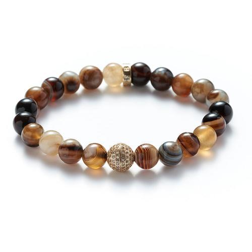 Agate | Gold Ball Bracelet