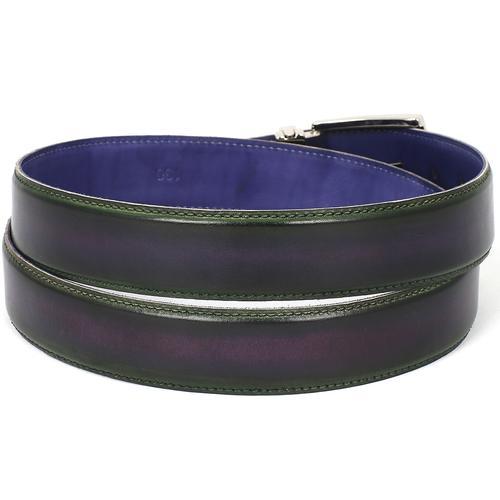 Men's Leather Belt Dual Tone | Green & Purple