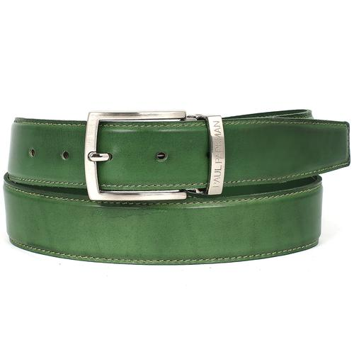 Men's Leather Belt | Green