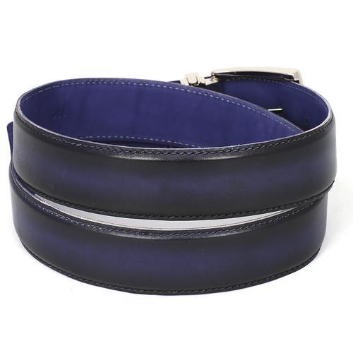 Men's Leather Belt Dual Tone   Navy & Blue