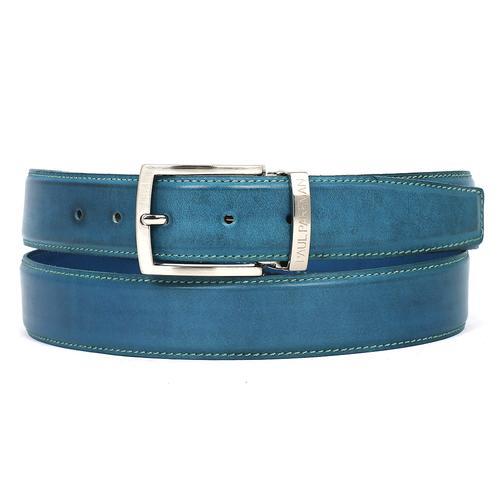 Men's Leather Belt   Sky Blue