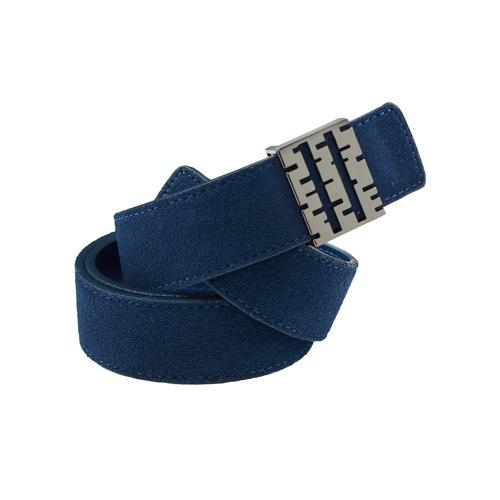 Suede Belt | Navy