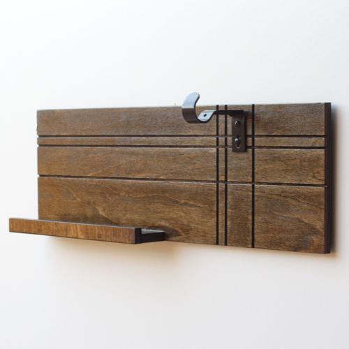 Headphone & Tablet Holder / Organizer | Wood Butcher Designs