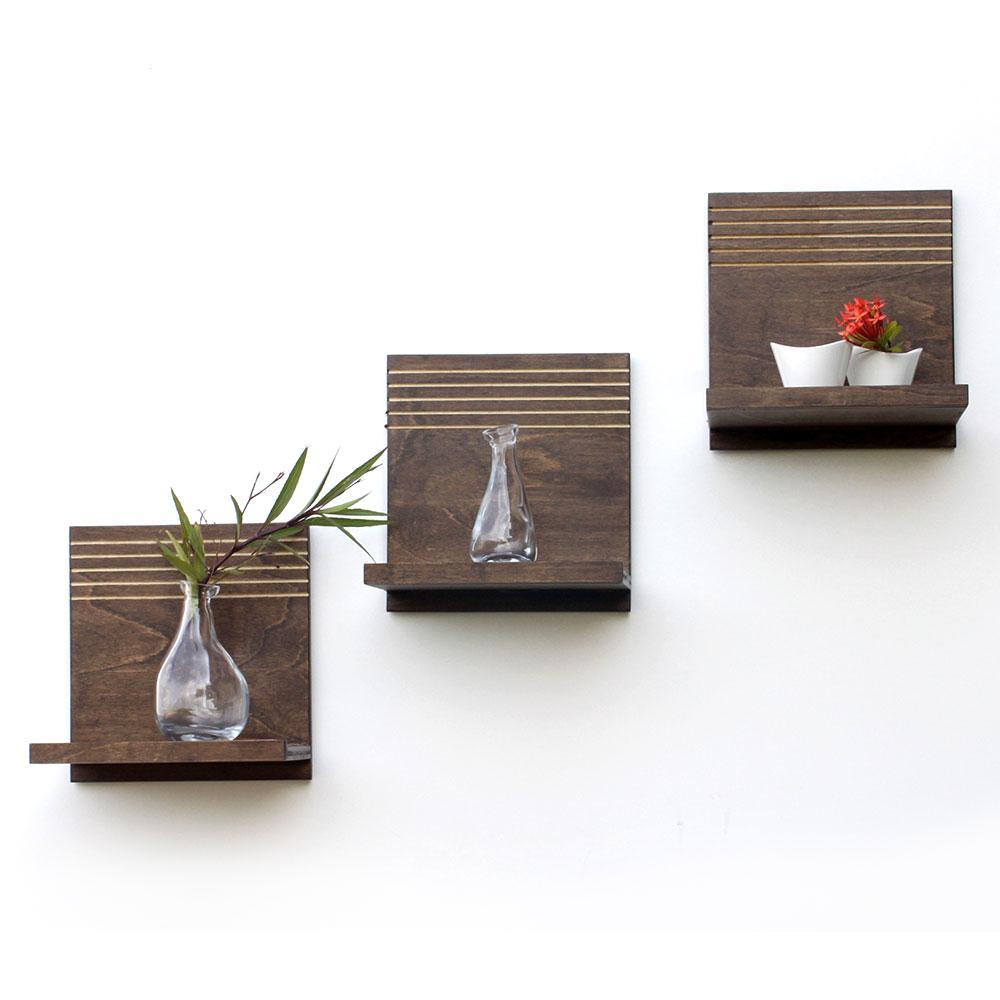 Spa floating shelves set of 3 wood butcher designs