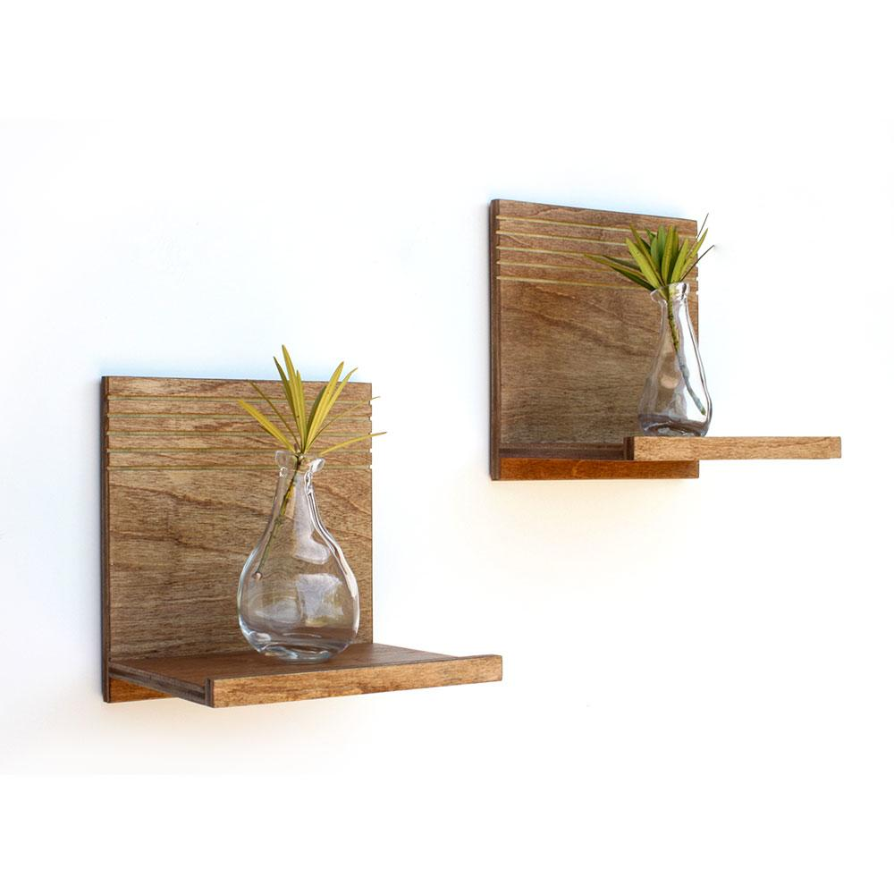 Spa Floating Wood Shelves | Set of 2 | Wood Butcher Designs