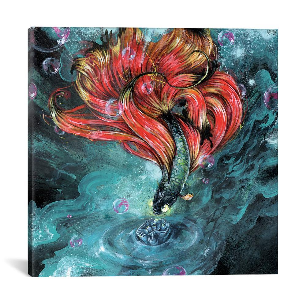 Organic Invasion by Black Ink Art Canvas Print