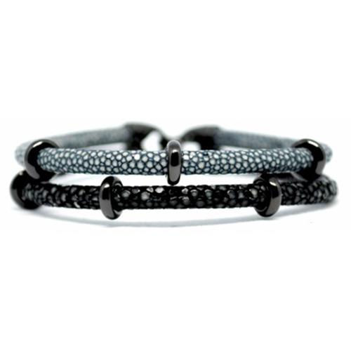 Bracelet | 2x Sting | Grey/Black
