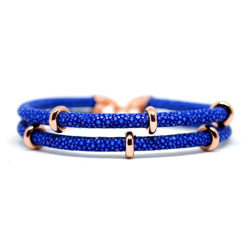 Bracelet | 2x Sting | Blue/Rose Gold