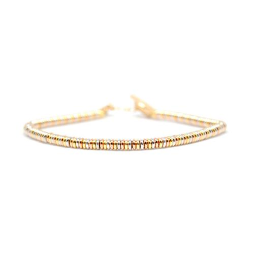 Bracelet | Single Beads | Triple Gold