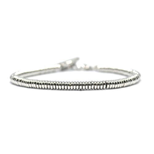Bracelet   Single Beads   White Gold