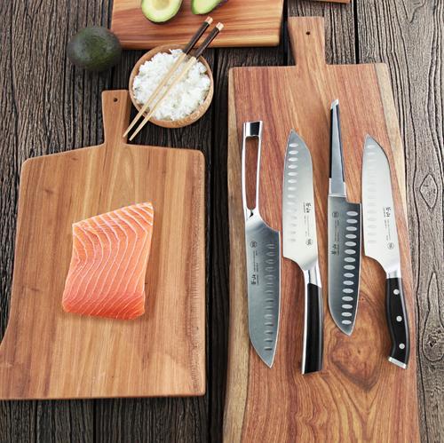 D Series | Set of 3 Knives | Steel | Black Handle | Cangshan