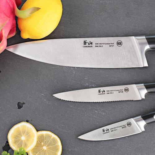 S Series | Set of 3 Knives | Steel | Cangshan