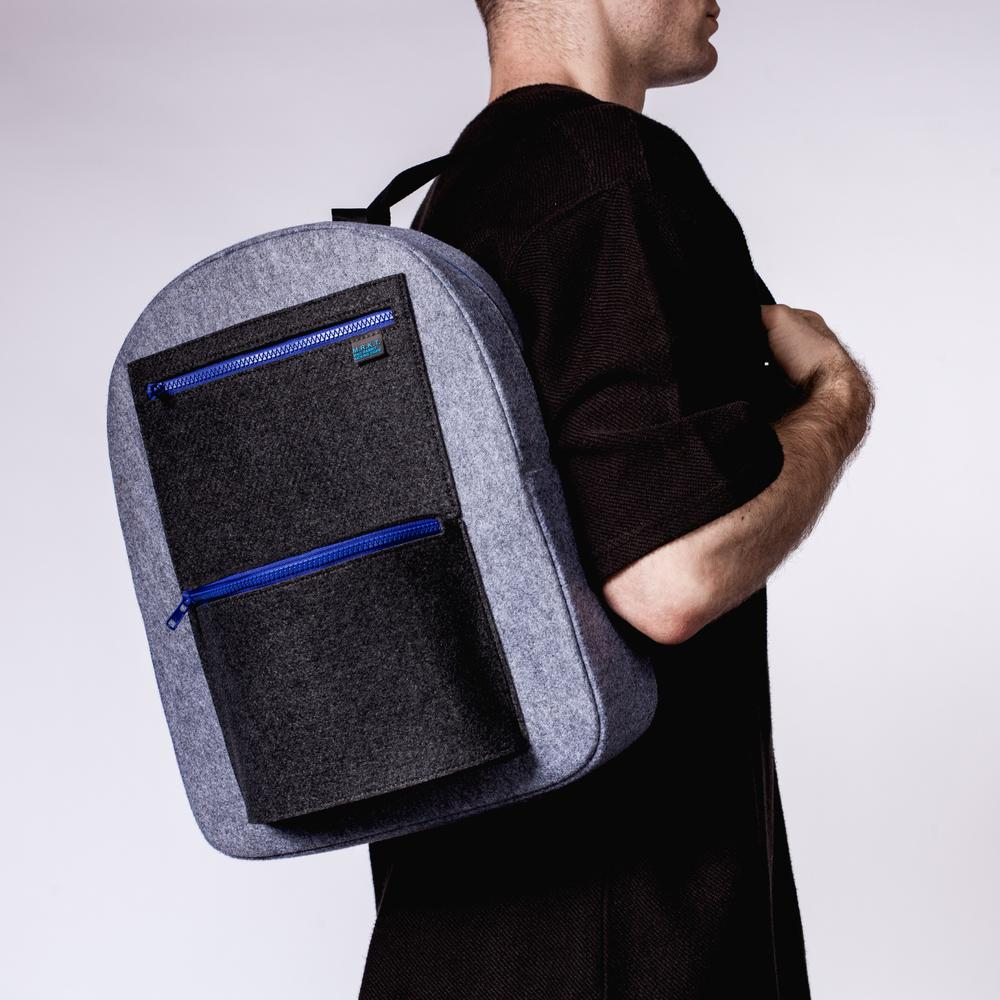 Stanley Felt Backpack | Geometric & Lightweight | MRKT Bags
